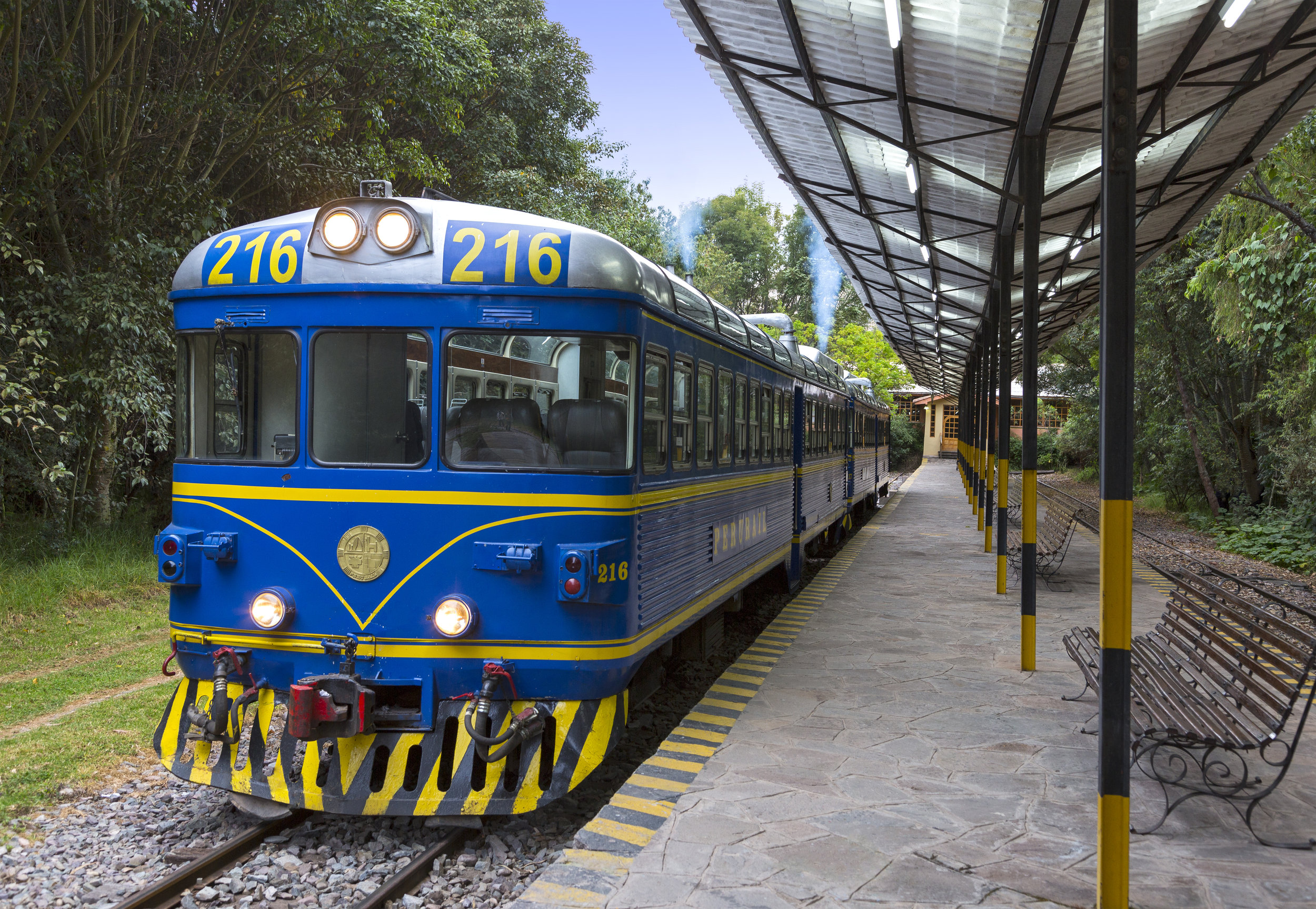 Train station on property at Tambo del Inka in Sacred Valley