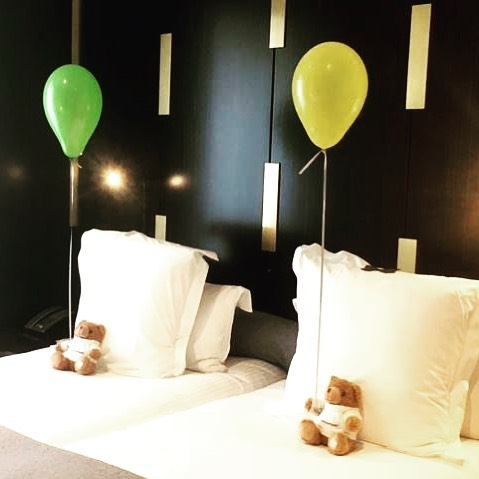 We said, they're flying overnight with three little kids. The hotel said, we got this. 🐻🎈Thank you @hotel_montalembert for showing the most adorable side of Parisian hospitality. You nailed it. #getpassported