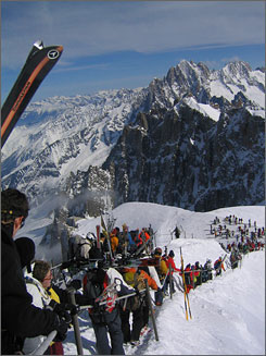 Ski on a Glacier Amid the Breathtaking Views of France's Mont Blanc -