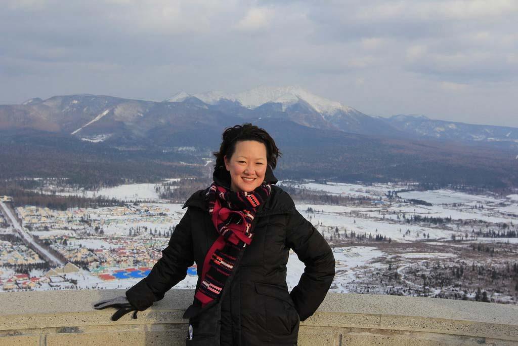 At Mount Paektu in Samjiyon, North Korea.