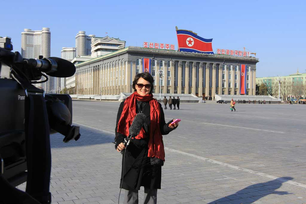 Reporting live from Kim Il Sung Square in Pyongyang, North Korea.