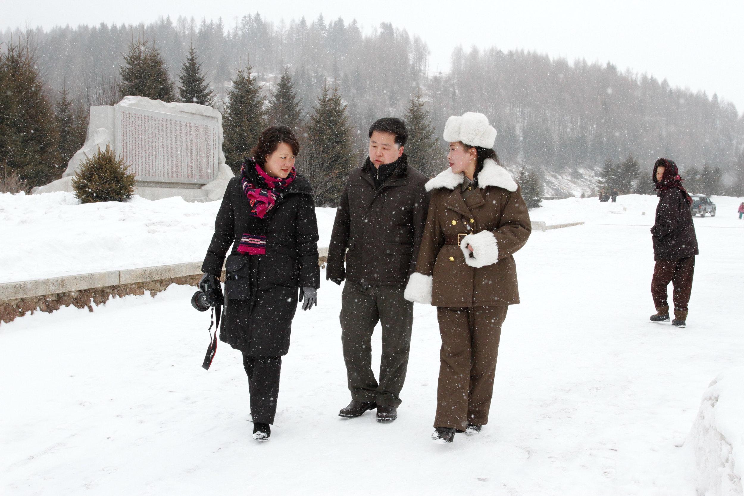 Reporting from Mount Paektu, North Korea.