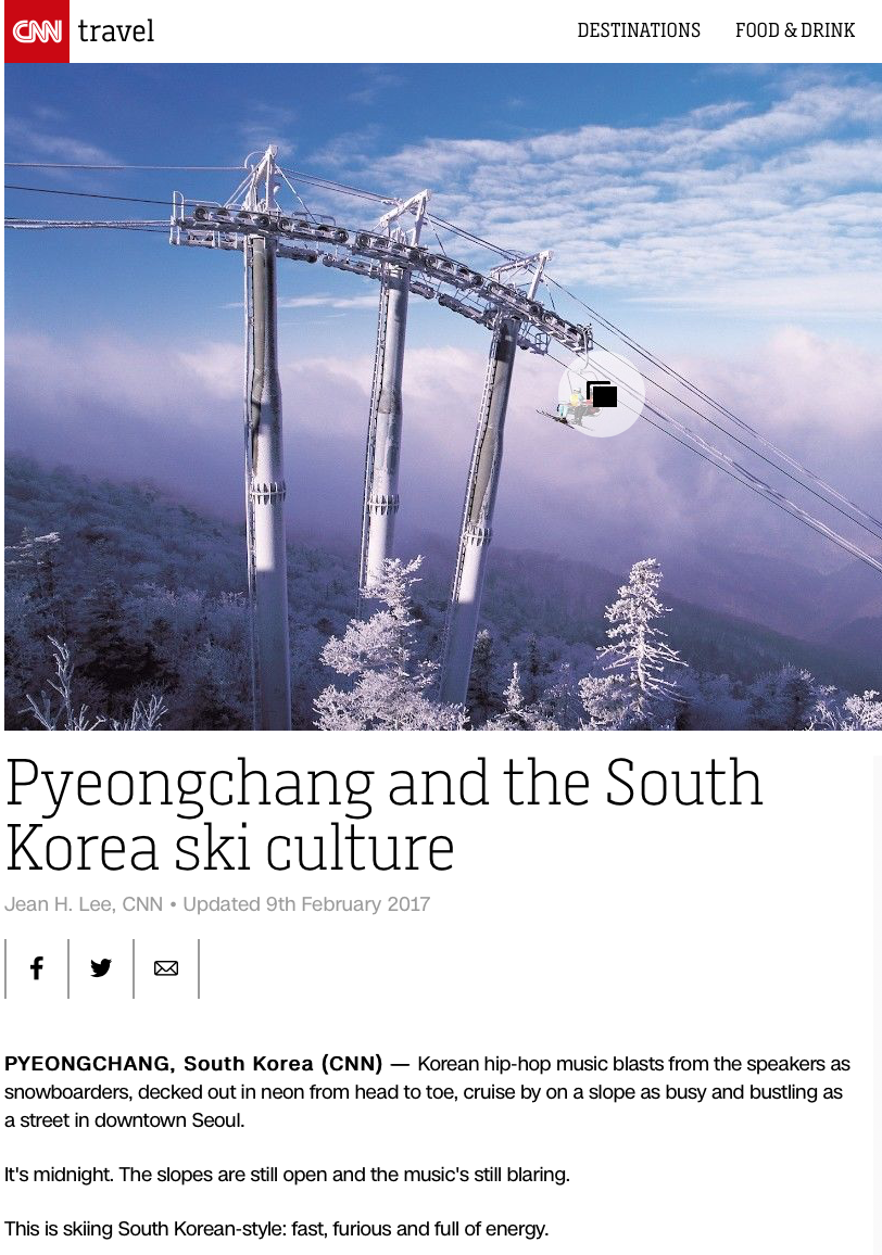 CNN Pyeongchang travel