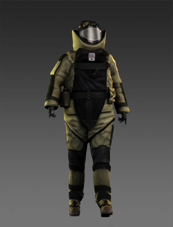 Bombsuit Beauty Shot - Rendered in mental ray with AO