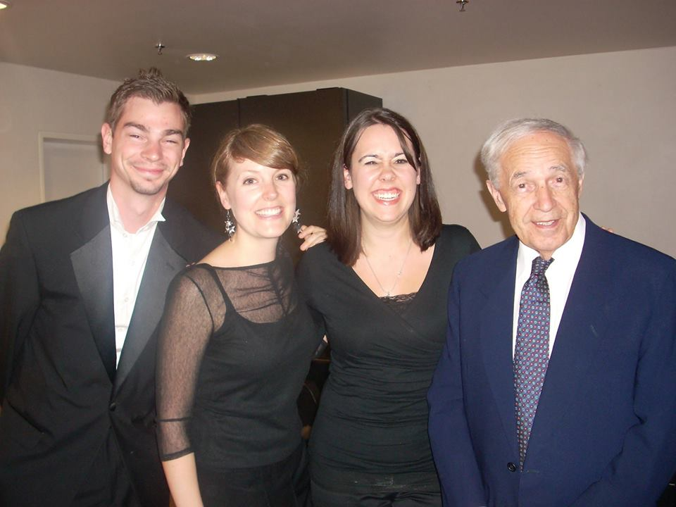 With Maestro Boulez in 2005 at the Lucerne Festival Academy