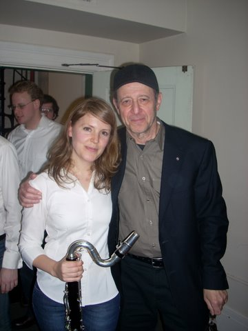 Posing with Steve Reich after performing  Music for 18 Musicians  with the Callithumpian Consort