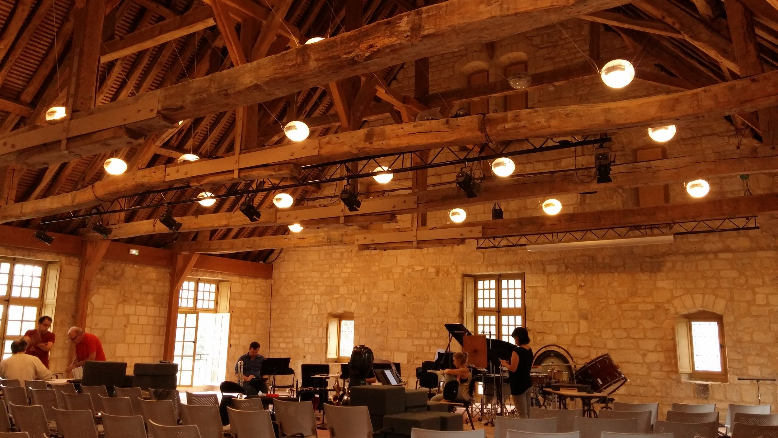 Gorgeous concert space (and former latrine for monks!) at Royaumont