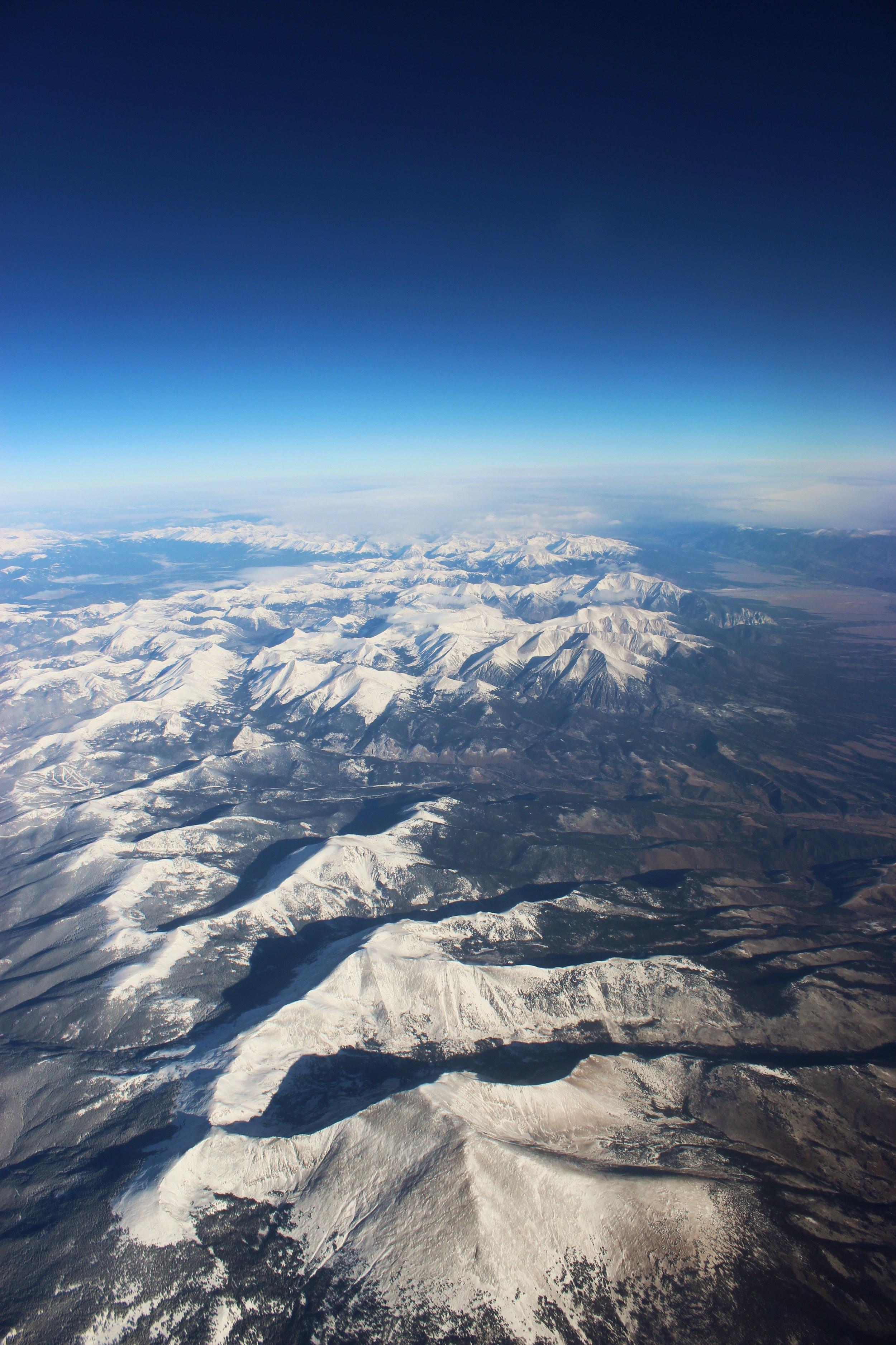 Rockies at 30,000 feet