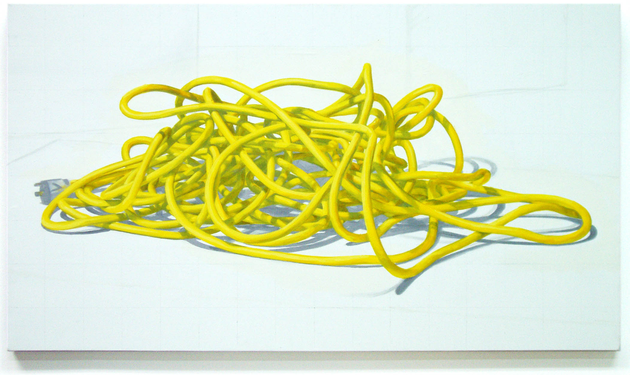 Cord Painting: Lemon and Silver 1