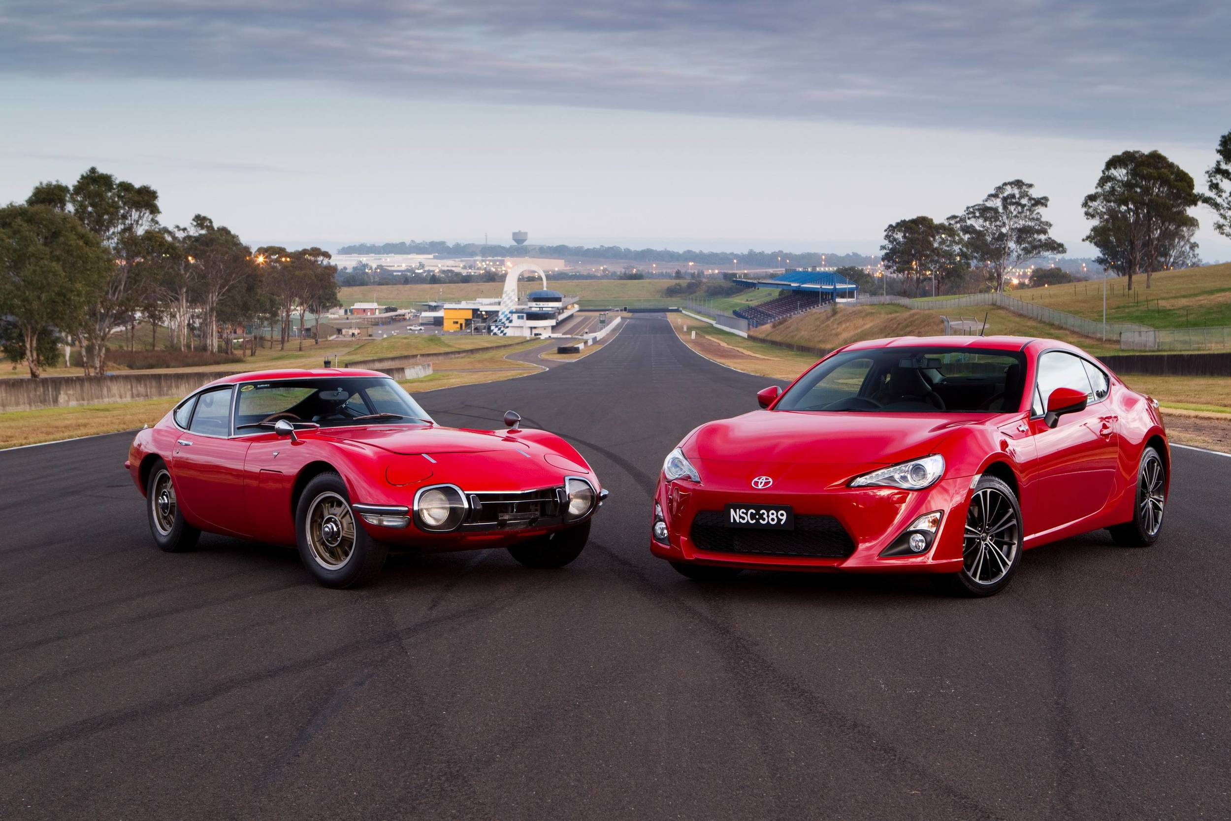 Toyota 2000GT with Scion FR-S for scale