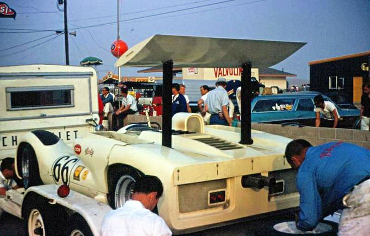 It was a simpler time. Getting to the track with an open trailer hauled bya standard Chevy pickup.