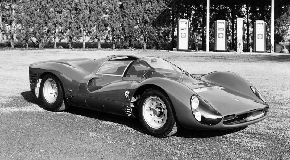 A Ferrari 330 P3 leaving the factory - There are no P3s remaining