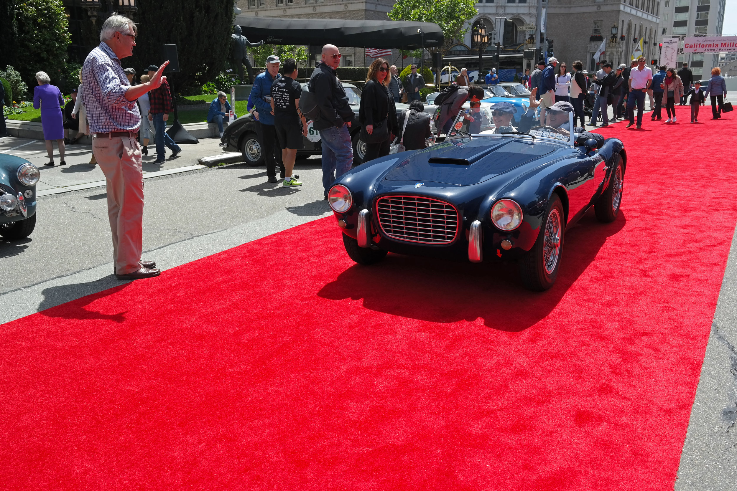 The 1953 Siata 208S  driven by Robert Davis and Jerry Anderson of CA