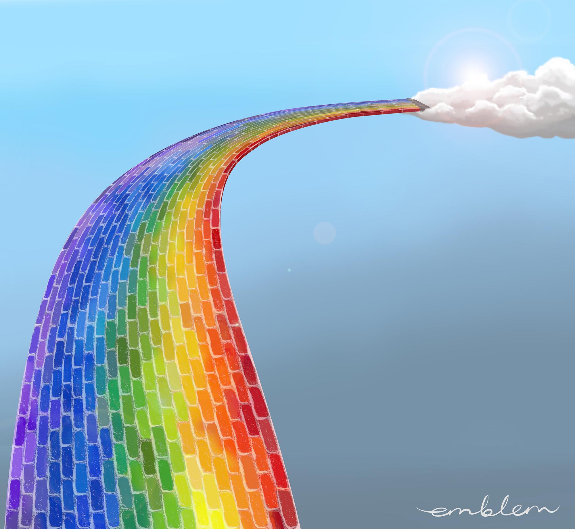 Bifrost, the rainbow bridge between the worlds