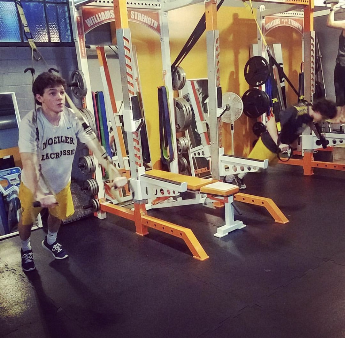High school lacrosse athletes strength training in the off-season