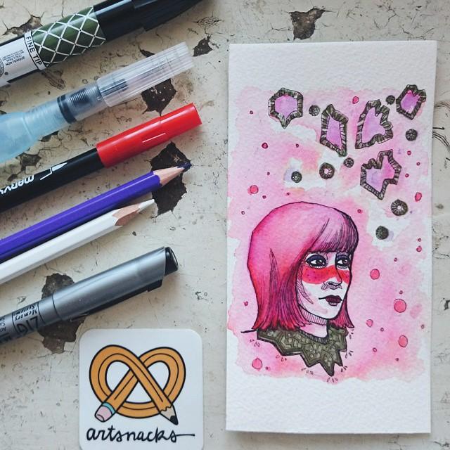 "via papercutroom   ""I absolutely love April box... So thank you @artsnacks 😘"""
