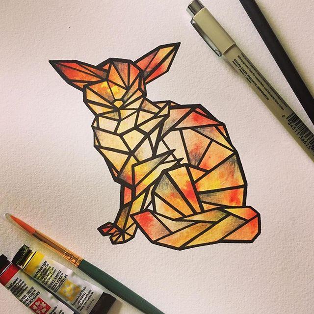 Repost from @emthejackalope ・・・ Fiery fennec for the July ArtSnacks challenge! . . . . . #fennecfox #fox #fennec #geometric #geometricart #fiery #fire #warmcolors #artsnacks @artsnacks #artsnackschallenge #artsnacksplus #danielsmithwatercolor #watercolors #watercolormonth #inkandwatercolor #ink #art #drawing #inkart #inkdrawing #foxart #lineart #painting #inkandpaint #wisconsin #wisconsinart #wausau #wausauart