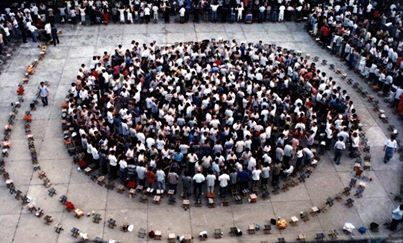 Group Qi Healing. Intensifying the Qi Field! A Human Labyrinth of Love and Compassion!