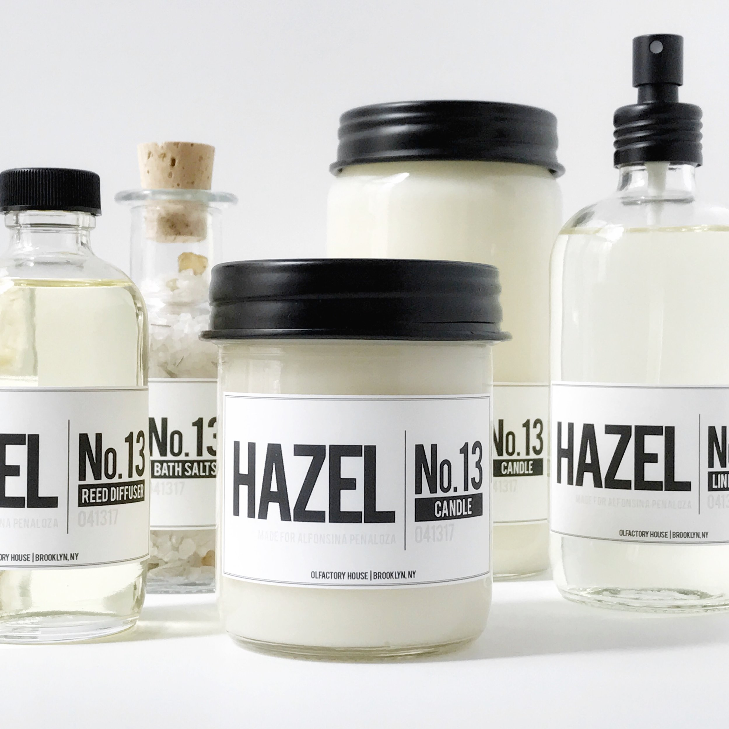 HAZEL | NO.13  Bespoke scent for our dear friend Alfonsina Peñaloza.  Key notes: Sage, green musk, patchouli and frankincense.