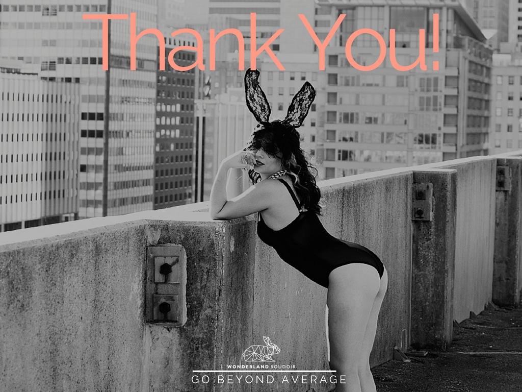 Wonderland Boudoir Dallas Photography, Thanks You