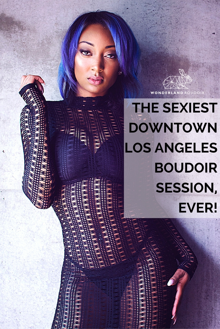 Downtown LA Loft Boudoir Session, Wonderland Boudoir
