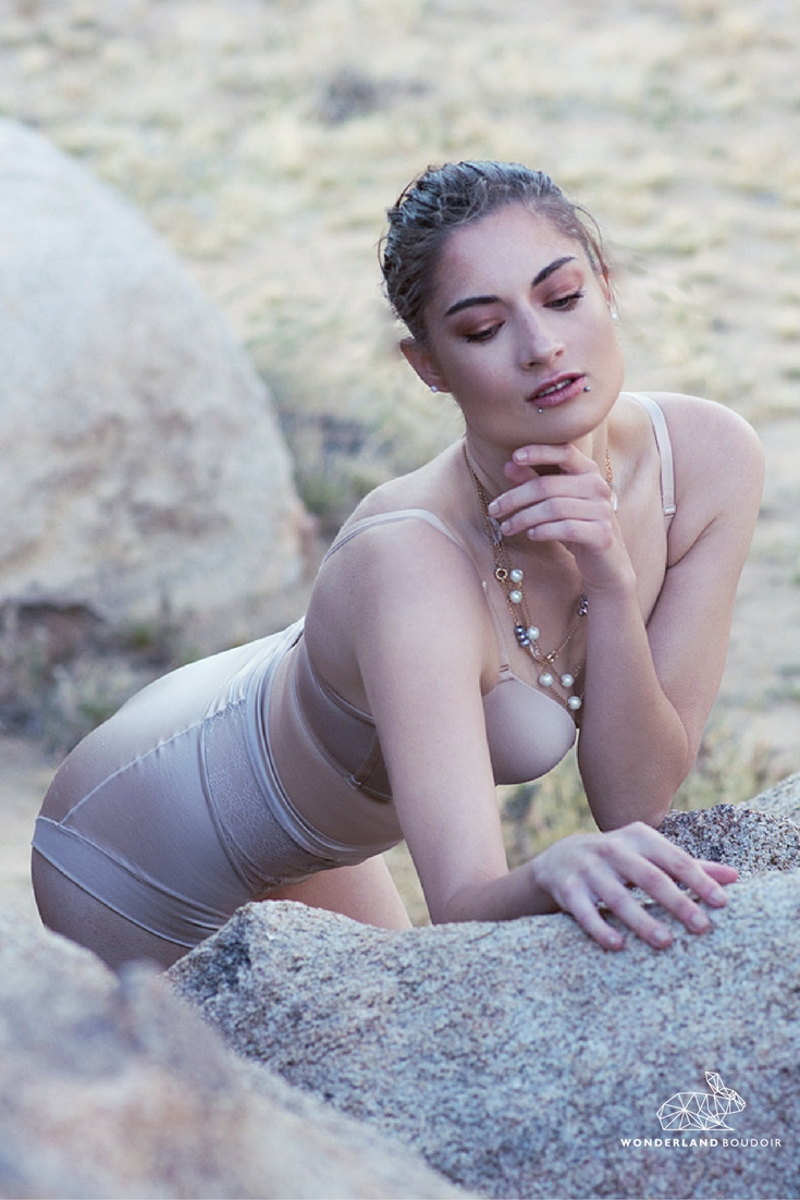 Outdoor Boudoir Session in Joshua Tree