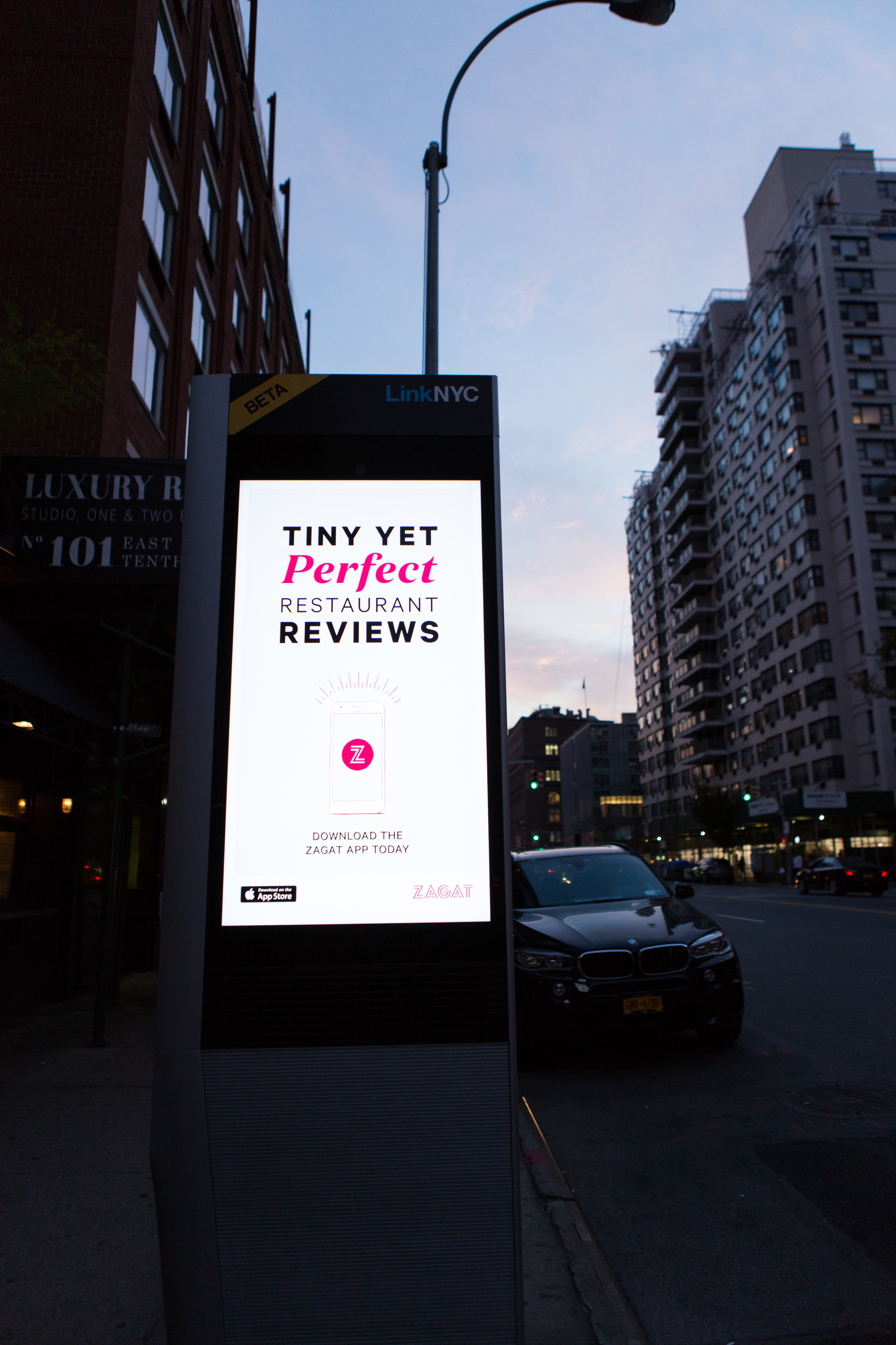 OOH in the vicinity around Astor Place promoted the new app with the tagline and drove New Yorkers to the event.