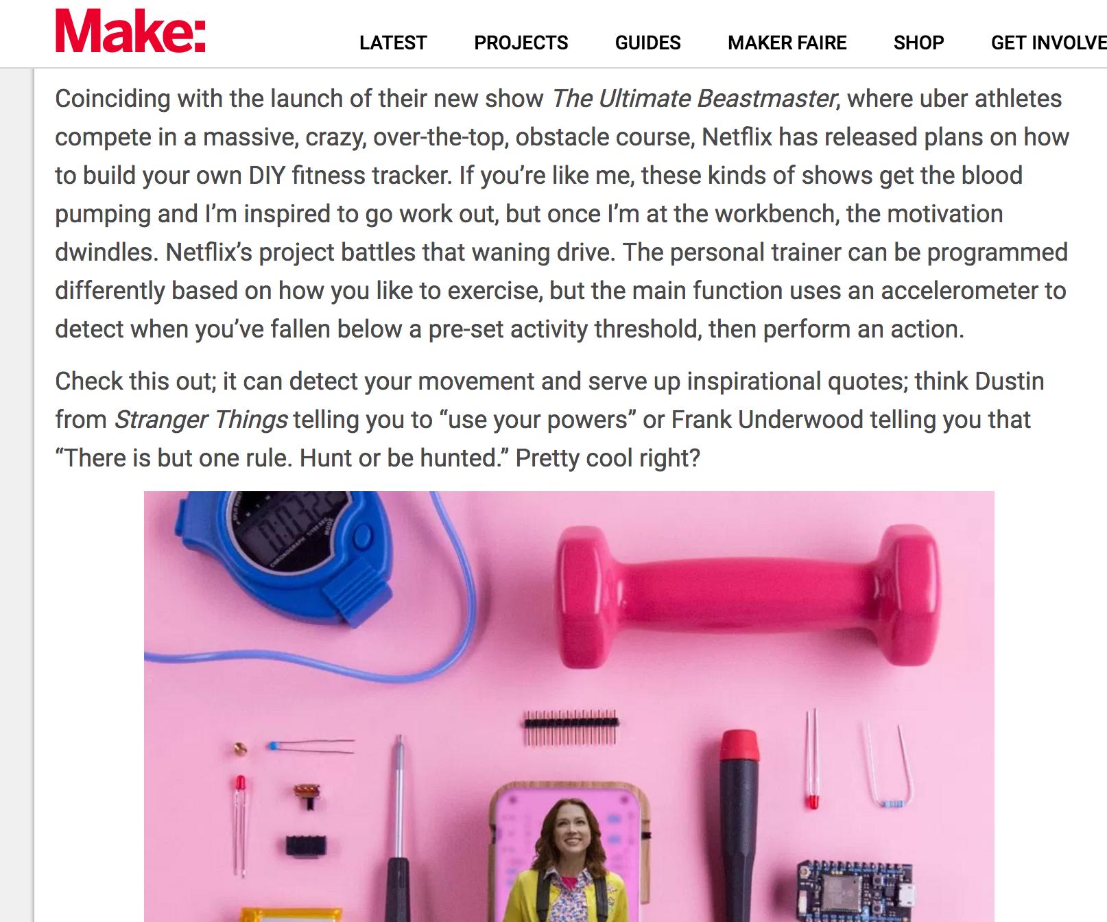 Make Magazine Blog Post