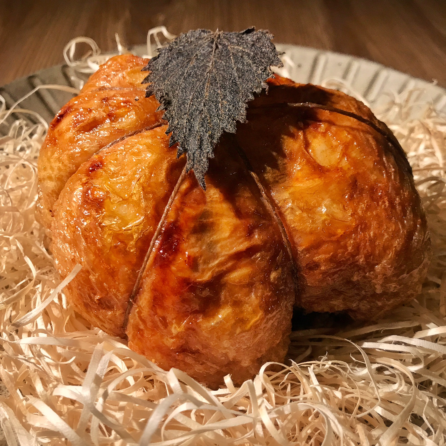 Boneless chicken with teriyaki glaze