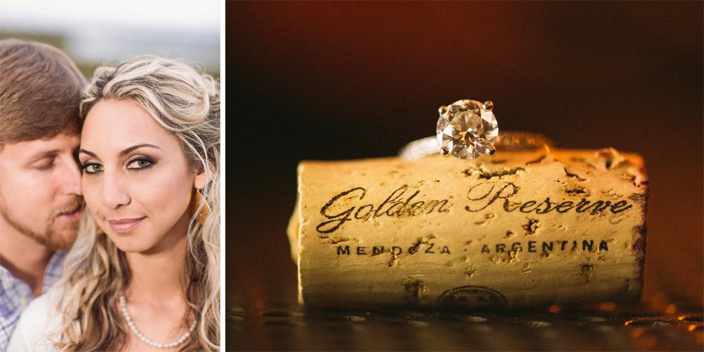 5 engagement photo on cork