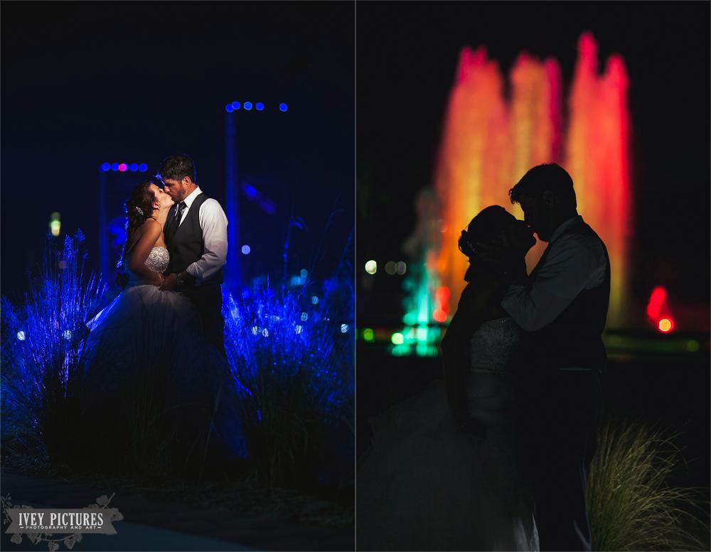 friendship fountain wedding photo