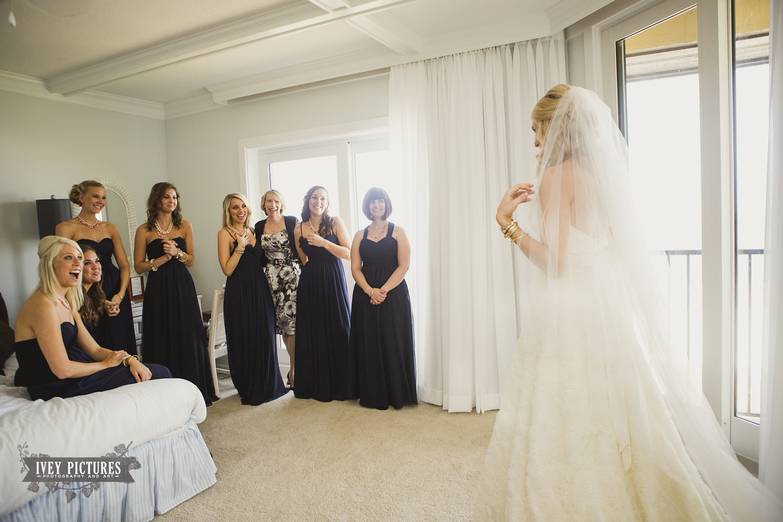 bride and bridesmaid photo