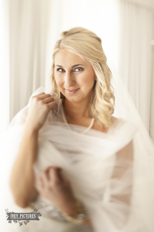 tilt shift bridal portrait