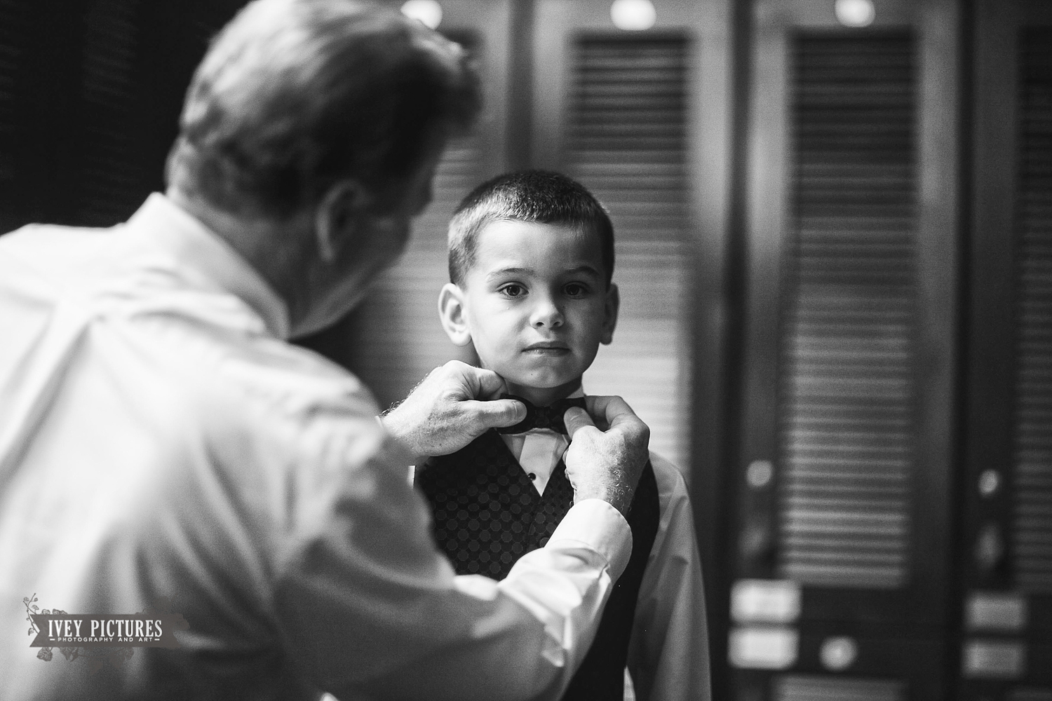 ring bearer getting ready