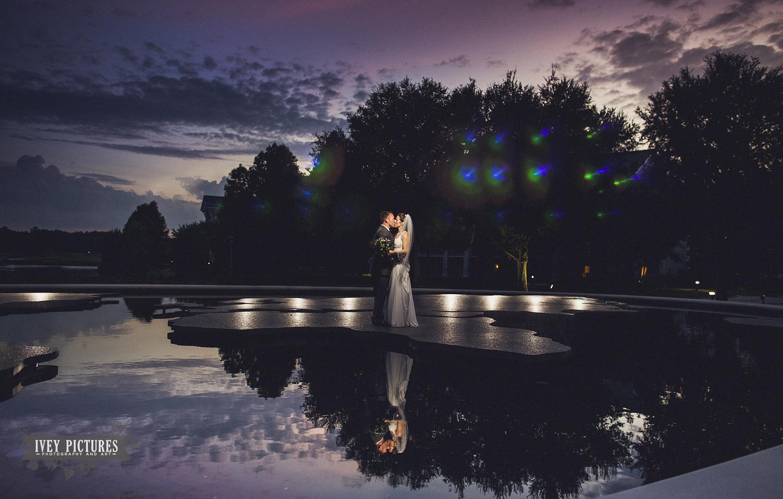 World Golf Village Fountain Wedding Photo
