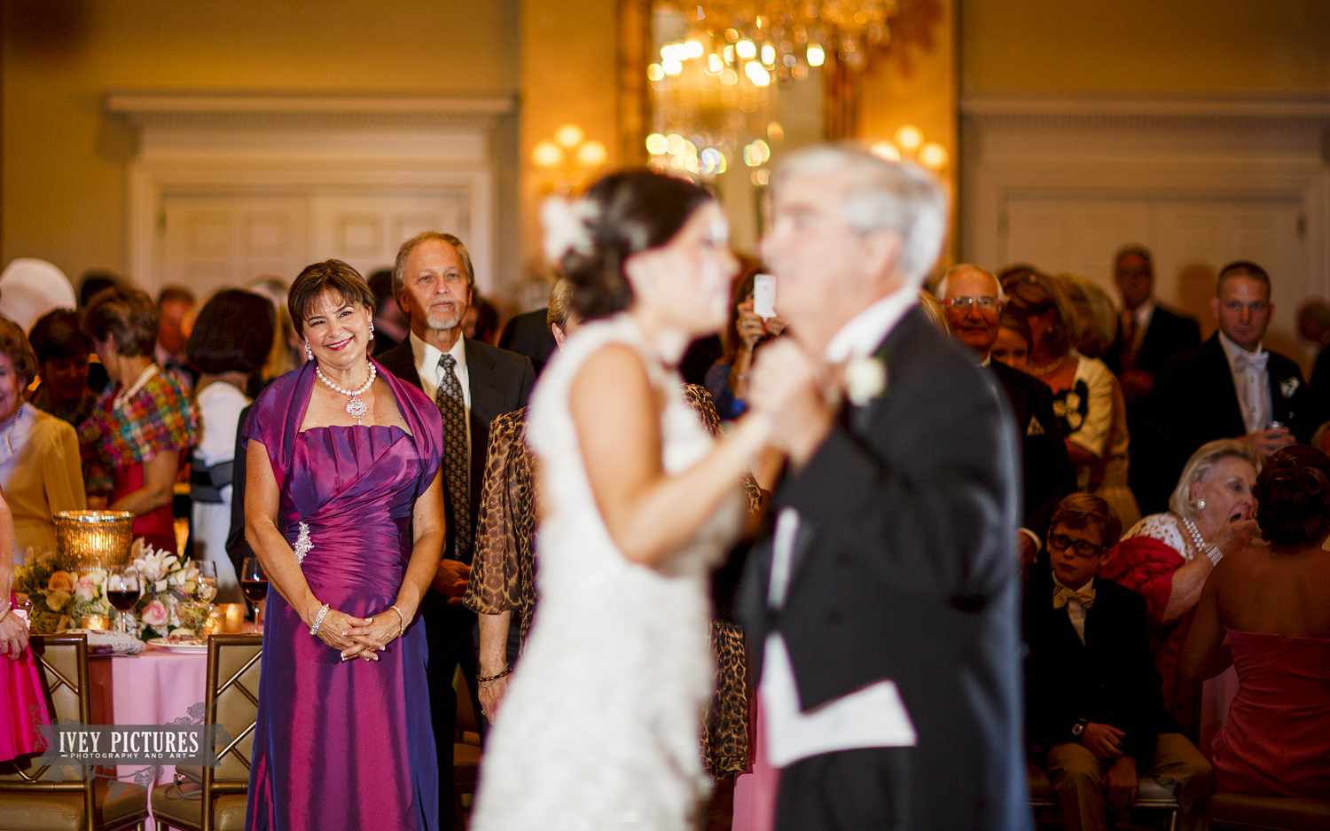 mother of bride watching first dance