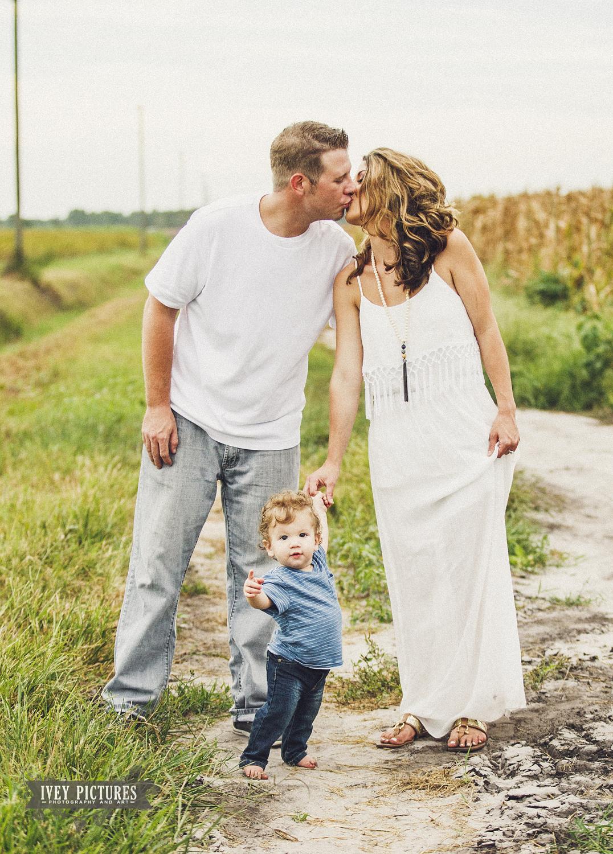 family photo on farm