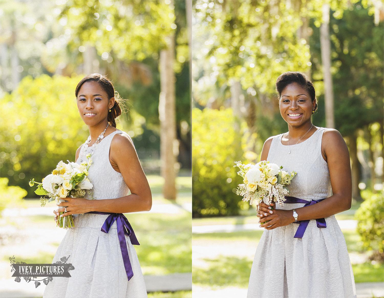 Natural light bridesmaid portraits