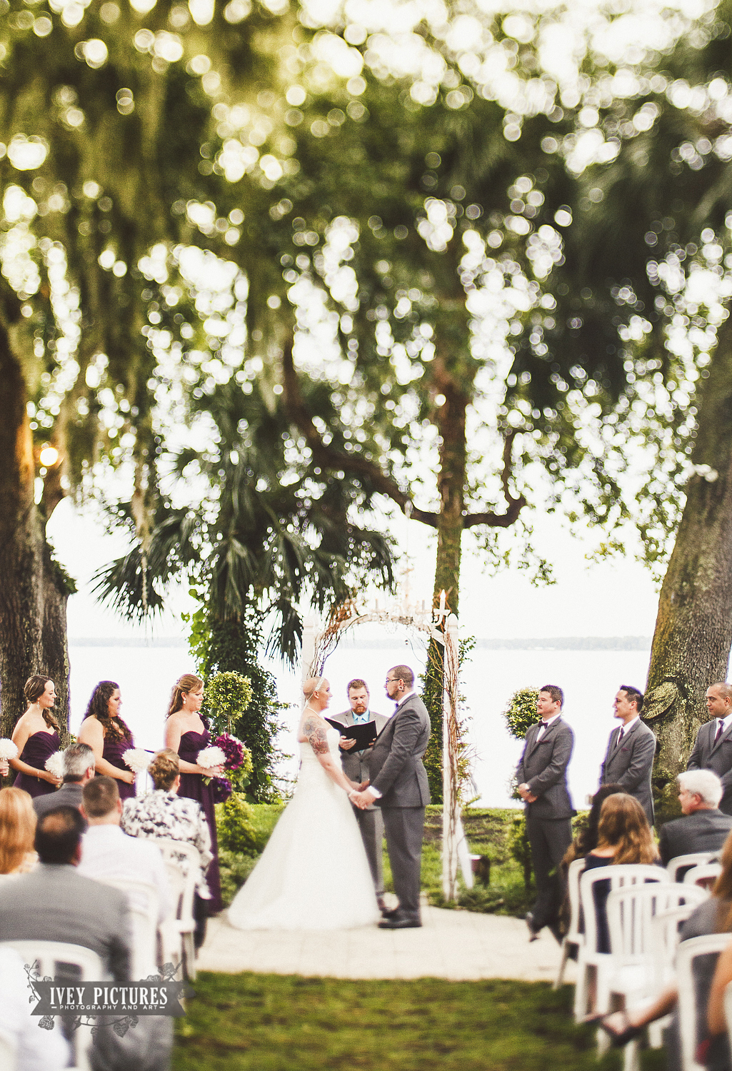 outdoor wedding photo