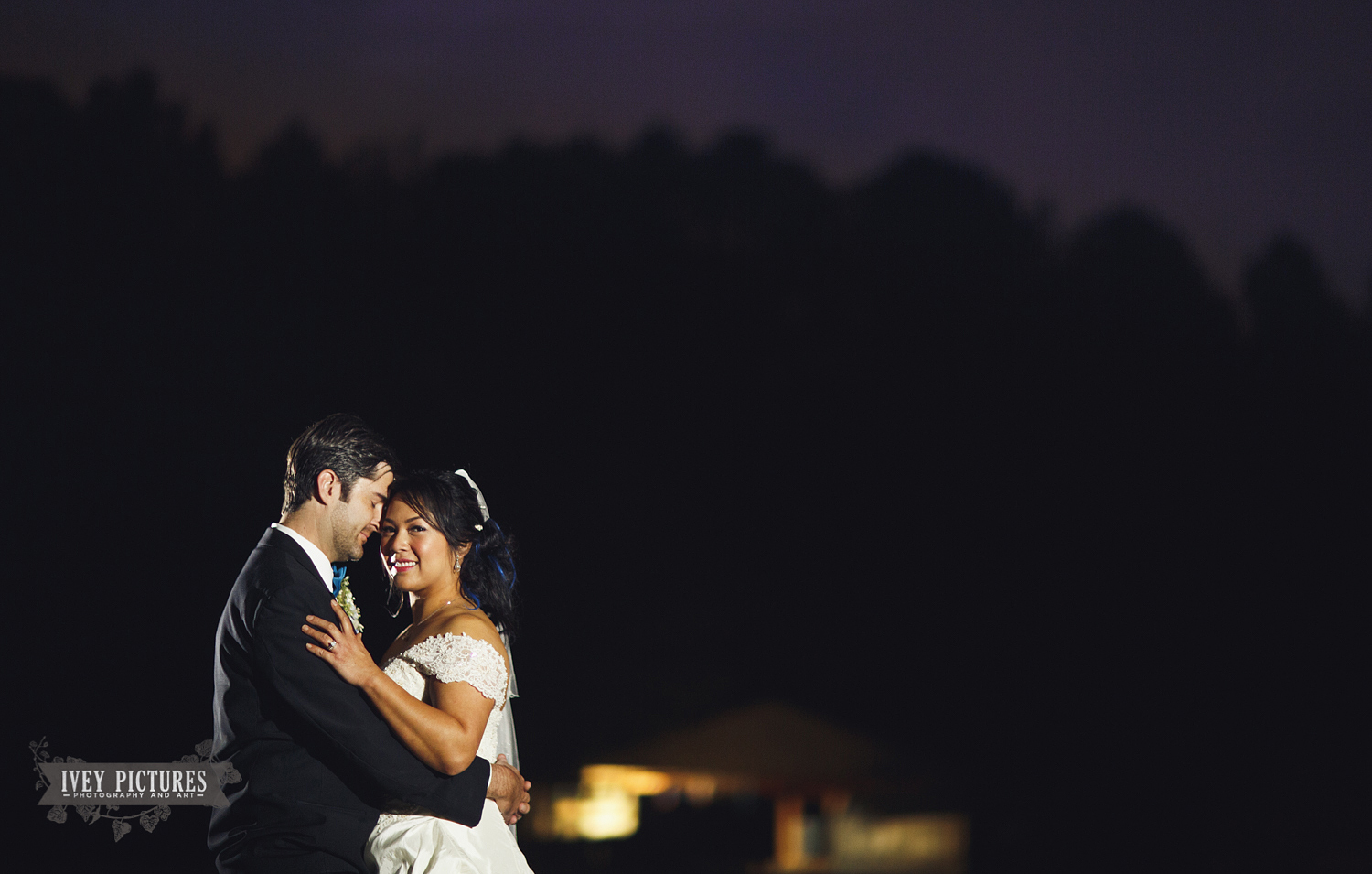 night time portrait of bride and groom jacksonville photographer