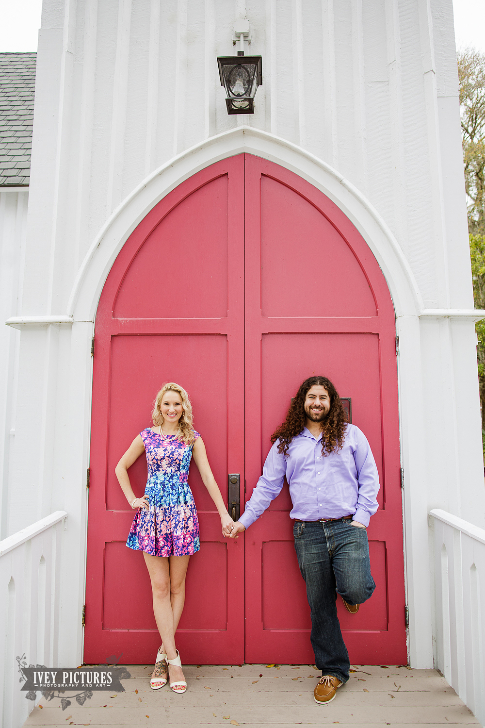 Engagement session at church