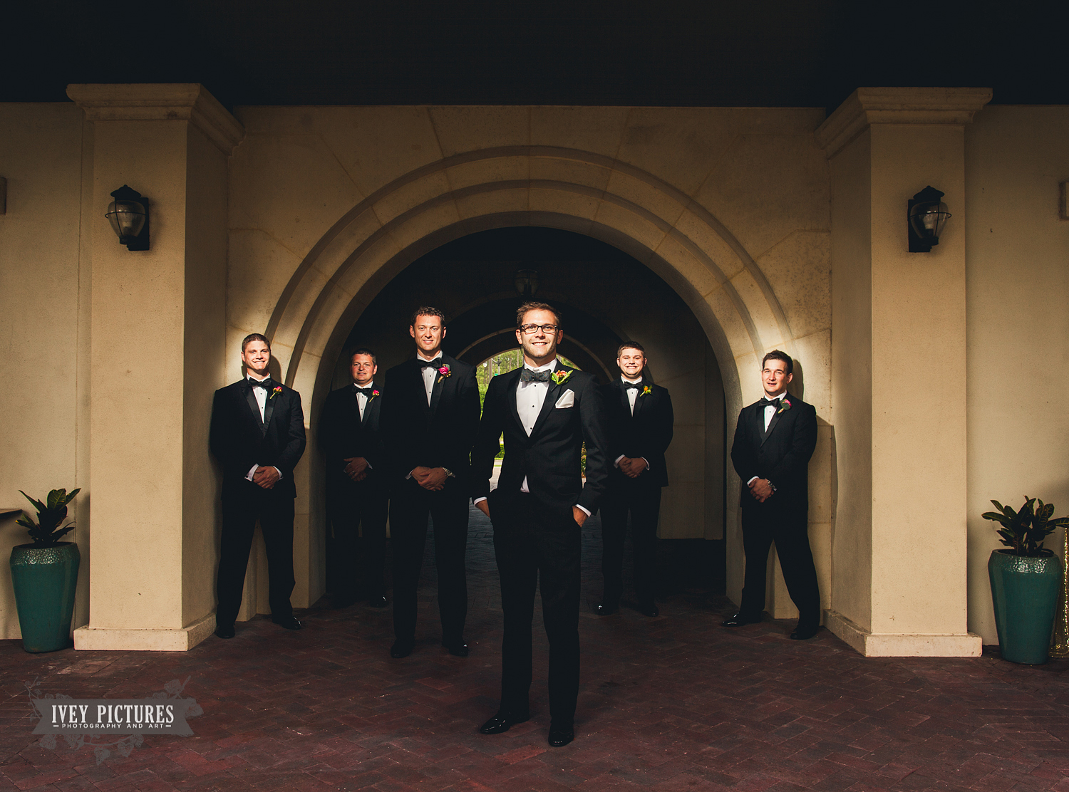 Groomsmen Portrait at Crosswater Hall