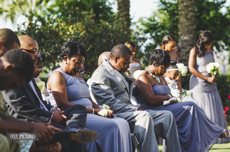 Prayers during wedding at Nocatee Crosswater Hall