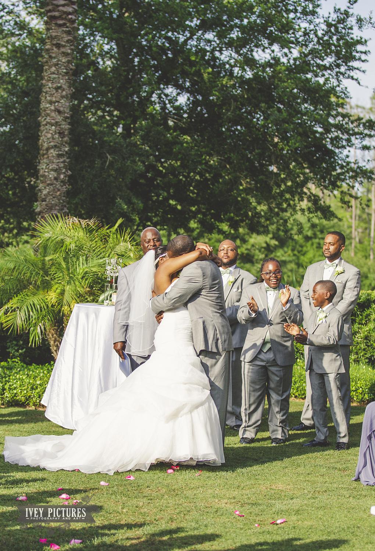 First Kiss St. Augustine Wedding Photographer