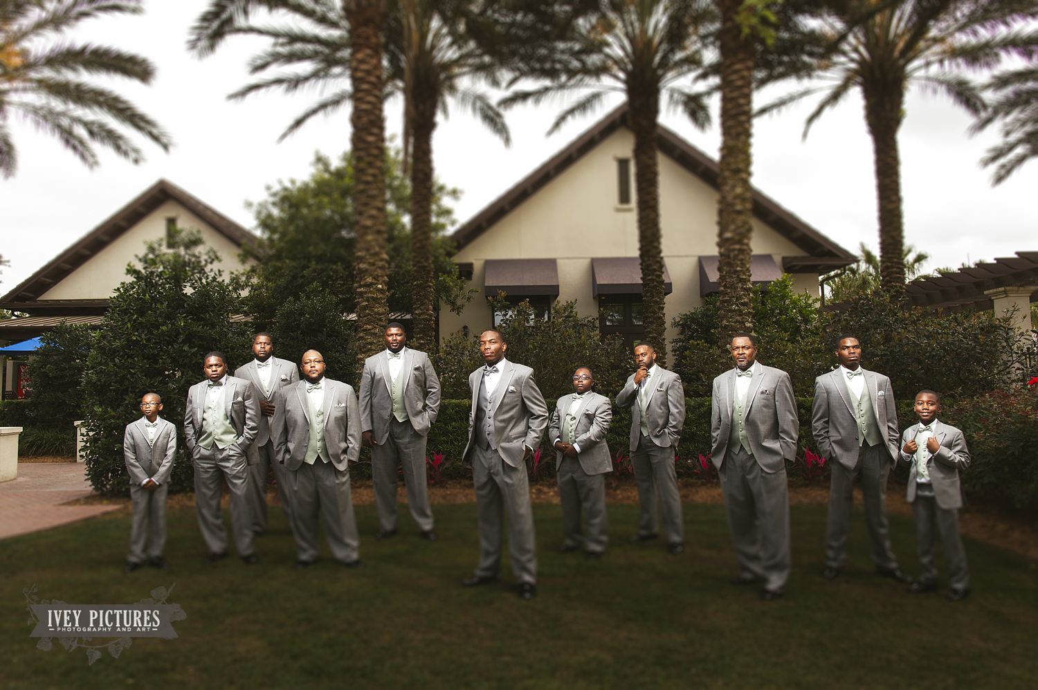 Groom with Groomsmen at Nocatee Crosswater Hall