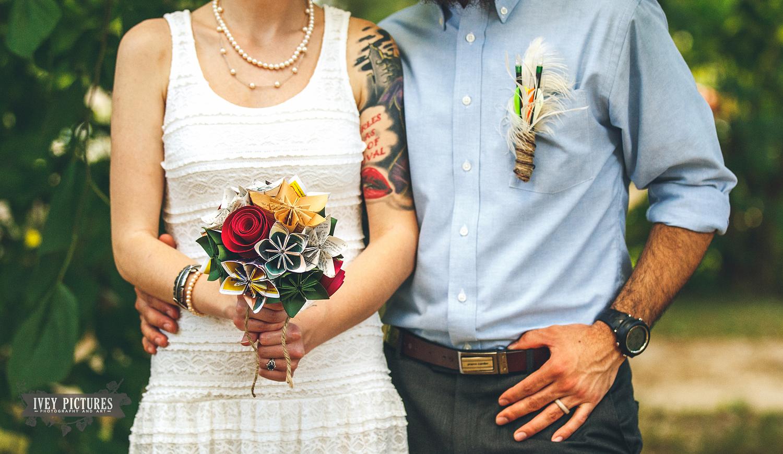 Paper wedding Bouquet