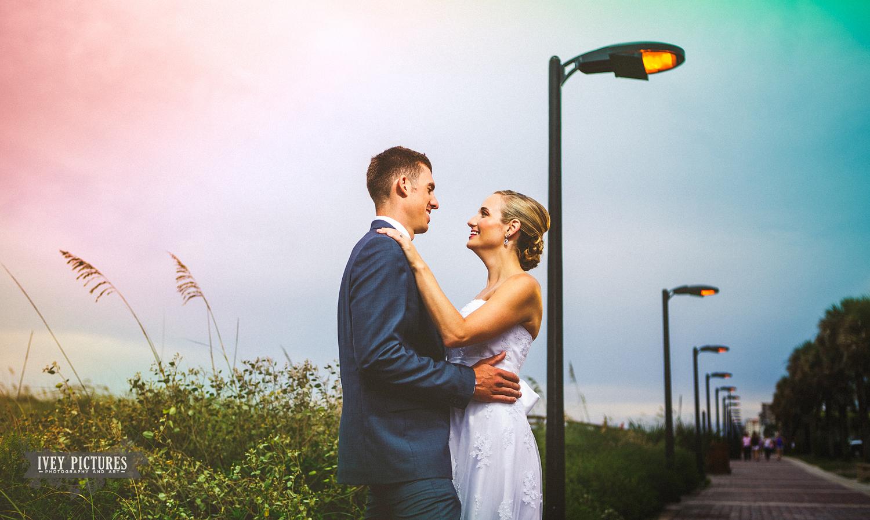 Bride and Groom at Casa Marina in Jacksonville Beach Fl.