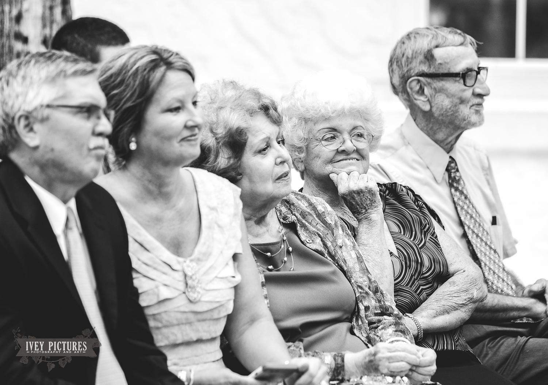 Candid Portrait of grandparents at wedding