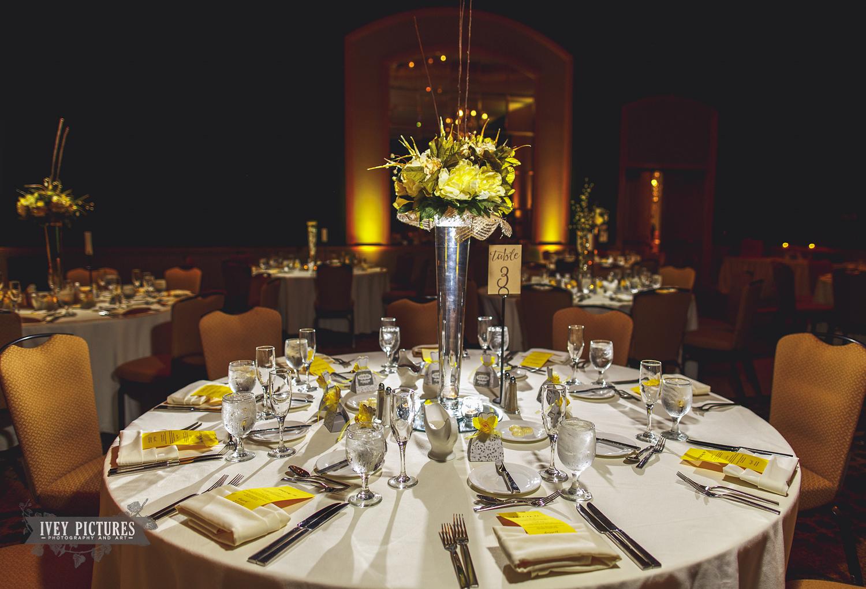 Hyatt Jacksonville Ballroom Wedding Reception