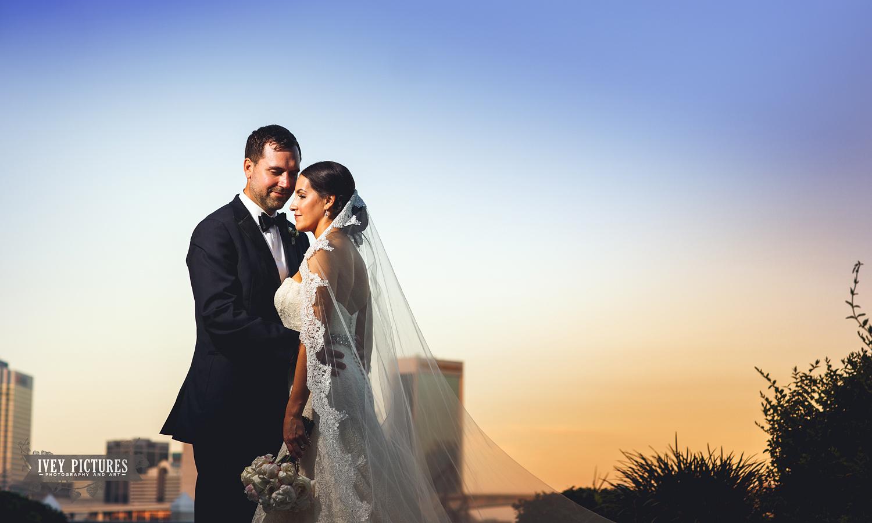 bride and groom in jacksonville